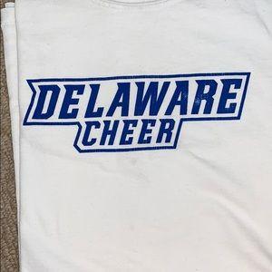 University of Delaware cheerleading shirt